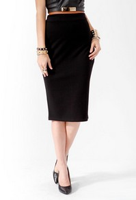 Faux leather trim skirt-$8