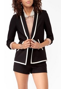 Contrast tuxedo jacket-$26