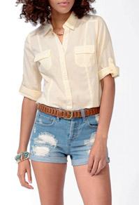 Tab sleeve shirt-$12