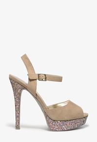 Glitter platform heels-$19