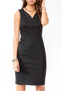Black sheath dress-$