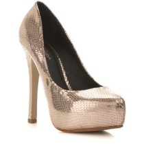 Rose gold heel-$35
