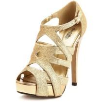 Glitter cage heels-$39