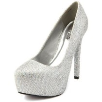 Silver platform heels-$36