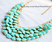 Turquoise necklace-$19