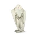 Studded fringe necklace-$23