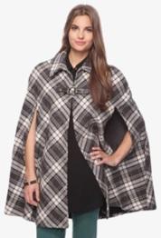 Plaid cape-$19