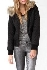 Faux fur puffer jacket-$20