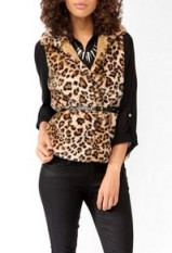 Faux fur vest-$20