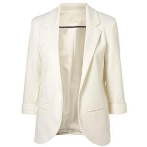 White ponte jacket-$47