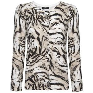 Tiger print cardigan-$30