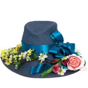 Denim derby hat