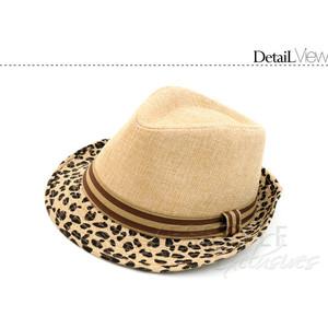 Leopard brim hat-$8