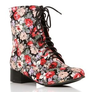 Black floral bootie-$30
