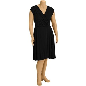 Plus size faux wrap dress-$