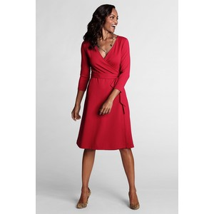 Faux wrap ponte dress-$30