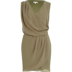 Sleeveless wrap dress-$