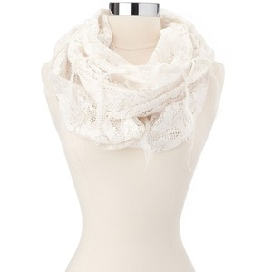 Lace trim scarf-$11
