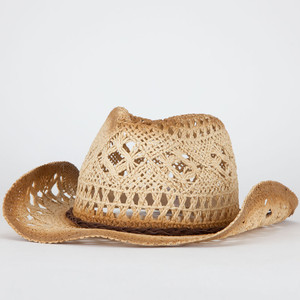 Open weave cowgirl hat-$15