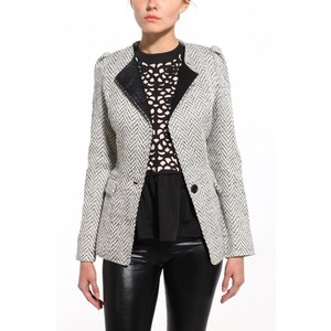 Leather lapel blazer-$50