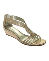 Sparkle wedge sandal-$69
