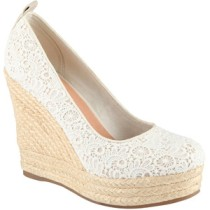 Lace espadrille wedge-$40