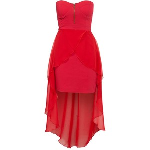 Red strapless dress-$