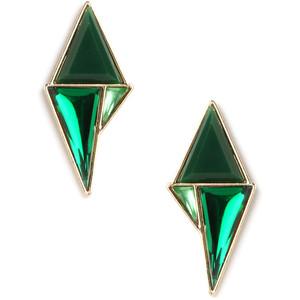 Green drop earrings-$22