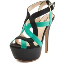 Colorblock platform heels-$39