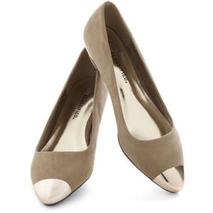 Cap toe flats-$3