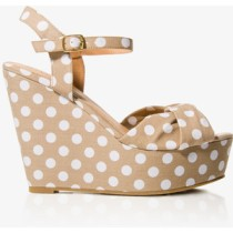 Polka dot wedge sandal-$30
