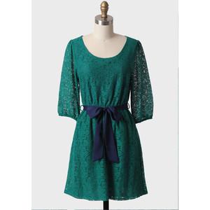 Emerald lace dress-$50