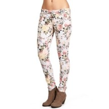 Floral print skinny jeans-$37