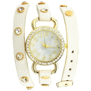 Studded wrap watch-$13