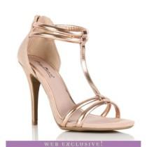 Rose gold heels-$25