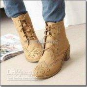 Brogue boots-$