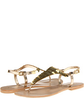 Gold sequin sandals-$26