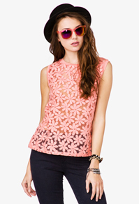 Embroidered daisy top-$20