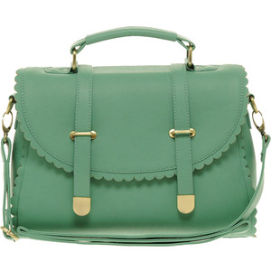 Scallop edge satchel-$47
