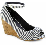 Love the stripes and the sexy ankle strap-$44