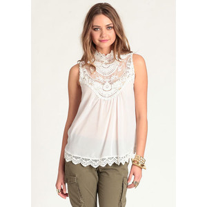Scallop lace blouse-$37