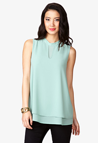 Love the flow and the mint color-wear this with skinny jeans and a lace cardigan or with cream trousers to work-$20