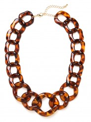Faux tortoise shell necklace-$34