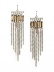 Fringe cascade earrings-$22