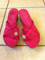 I picked up these hot pink wedges on sale at Steinmart.