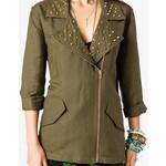 Linen blend jacket-$38