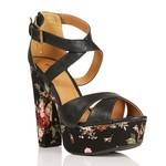 Floral strappy sandals-$15