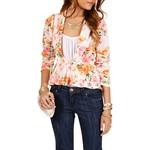 Peplum floral blazer-$