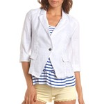 3/4 sleeve linen blazer-$33