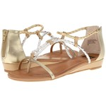 I love flat metallic sandals for shopping or casual evenings out-$50